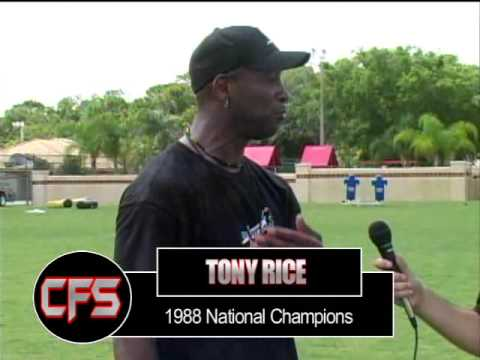 Former Notre Dame QB - Tony Rice Interview
