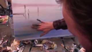 Научиться рисовать морской пейзаж, море, яхты, уроки живописи маслом, Сахаров