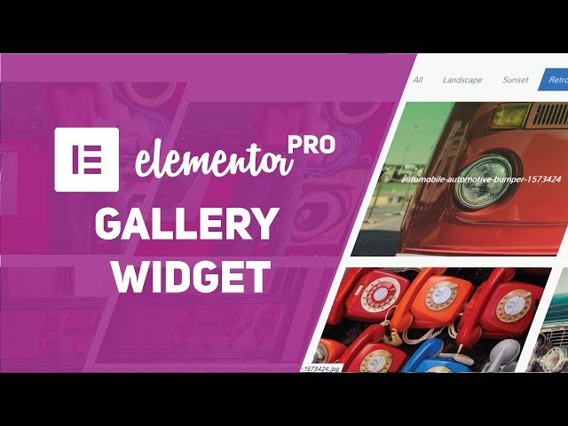 How To Make A Filterable Gallery with Elementor Pro Gallery Widget (Filter, Single & Grid Gallery)