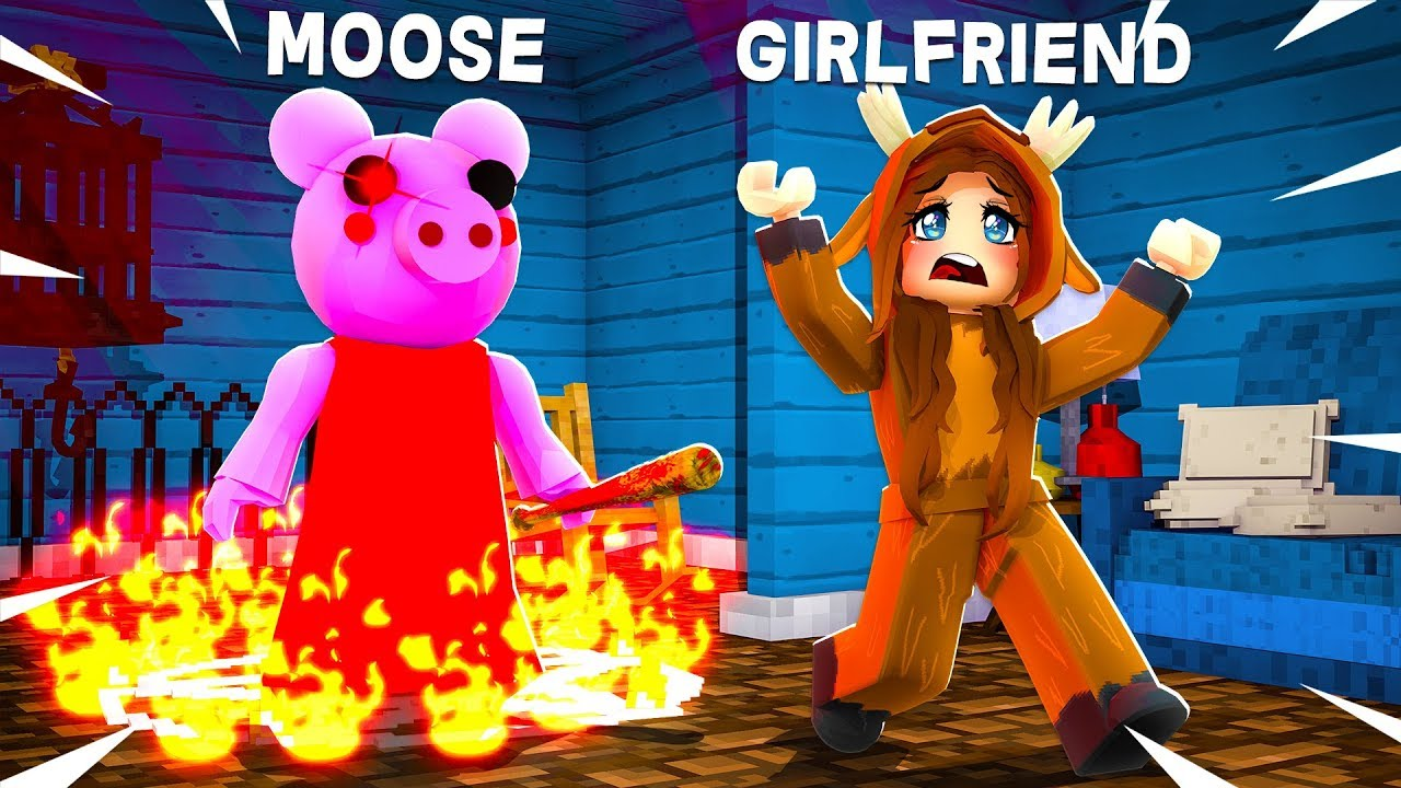 Unspeakablegaming Roblox Piggy Evil Piggy Trapped My Girlfriend Roblox Youtube
