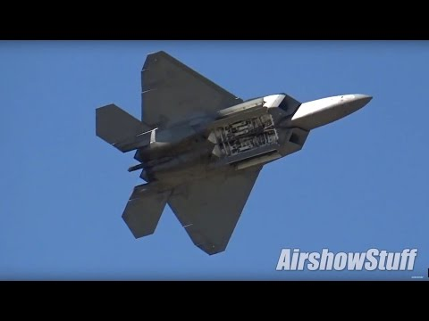 USAF F-22 Raptor Demo and Heritage Flight with F-35 and P-51 (Extended Cut)