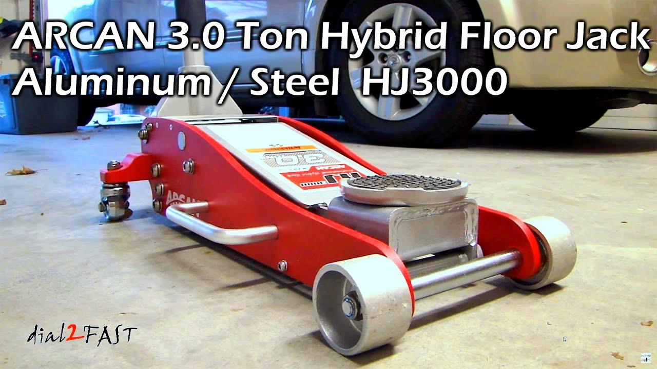 Arcan 3 Ton Hybrid Steel Aluminum Floor Jack Model Hj3000