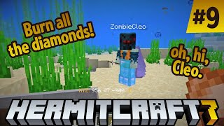 Hermitcraft 7: Burn all the Diamonds! Oh, hi, Cleo! ep 9