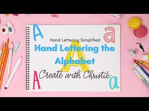 Hand Lettering Alphabet Tutorial: Letter A