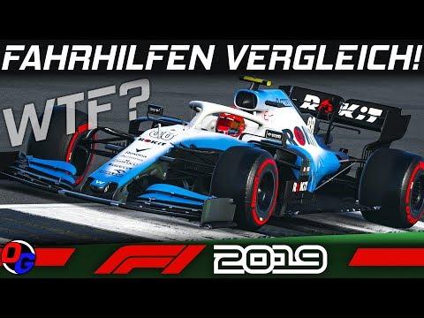 F1 2019 Tutorial   Fahrhilfen Vergleich   Formel 1 2019 Guide German Deutsch