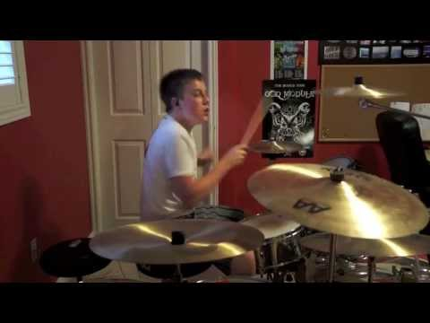 COMBICHRIST - Sent To Destroy (drum cover) by 15 y/o Evan Patterson