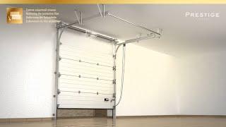 Высокий монтаж гаражных ворот Prestige
