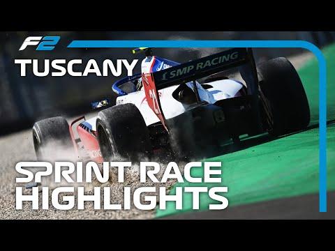 F2 Sprint Race Highlights | 2020 Tuscan Grand Prix