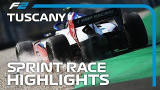 F2 Sprint Race Highlights | 2020 Tuscan Grand Prix