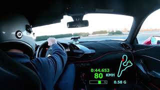 Ferrari 488 Pista : Magny Cours Club Lap time and drift