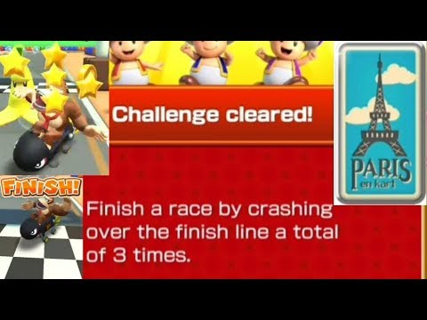 Finish A Race By Crashing Over The Finish Line Mario Kart