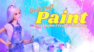 DIY - How to Make: PAINT Craft   Roller   Paint Tray   Selfie Room   Paint Buckets & More