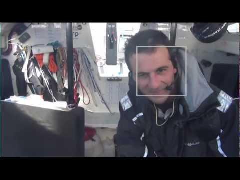 La première vidéo d'Alessandro Di Benedetto sur le Vendée Globe 2012