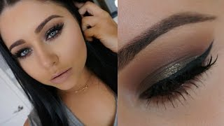 Warm Olive Golden Sultry Smokey Eye Makeup Tutorial