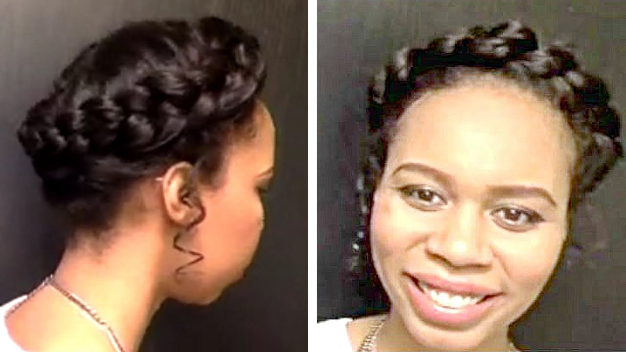Halo Braid Wedding Updo Tutorial - YouTube