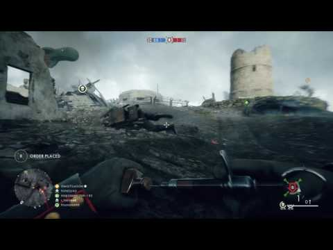 Battlefield 1 - Rush on St Quentin SCAR Map: Small Tank Gameplay Online Multiplayer Playstation 4