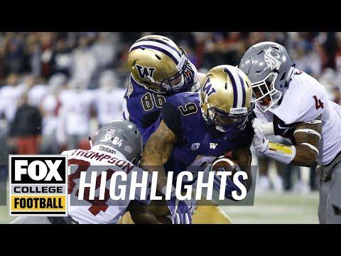 Washington vs Washington State   Highlights   FOX COLLEGE FOOTBALL
