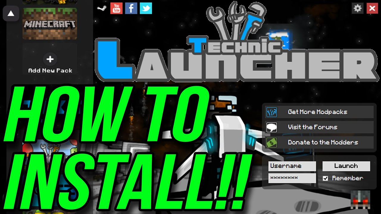 How To Install The Technic Launcher (How To Play Tekkit!!)