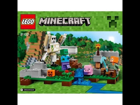 lego minecraft iron golem instructions