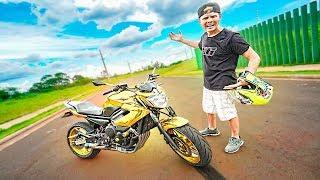 Ele Nunca Pilotou Uma Moto Na Vida !