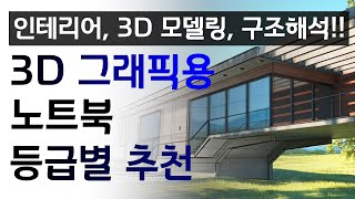 [4K] 3D 그래픽작업용 노트북 사양별 추천!! 나는…