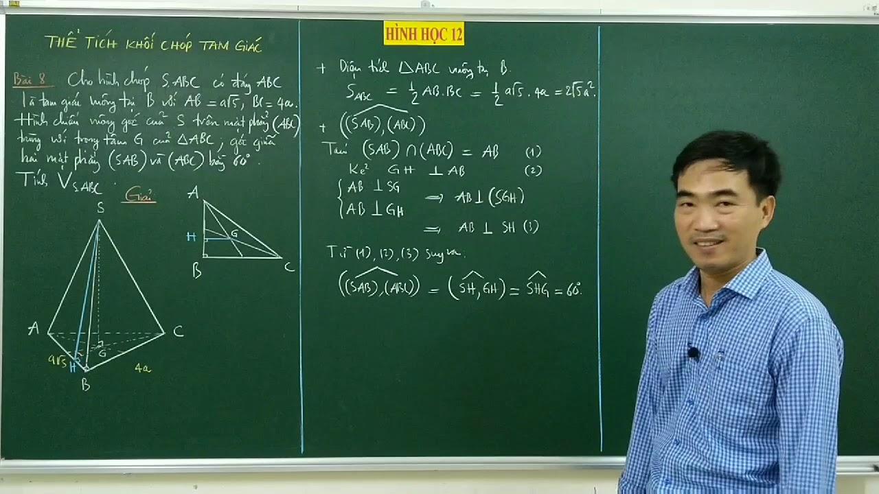 Hình học 12. Thể tích khối chóp tam giác #6