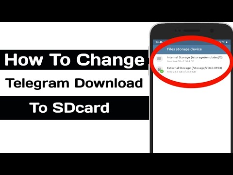 How To Change Telegram Download Location To SDCard / Memmory