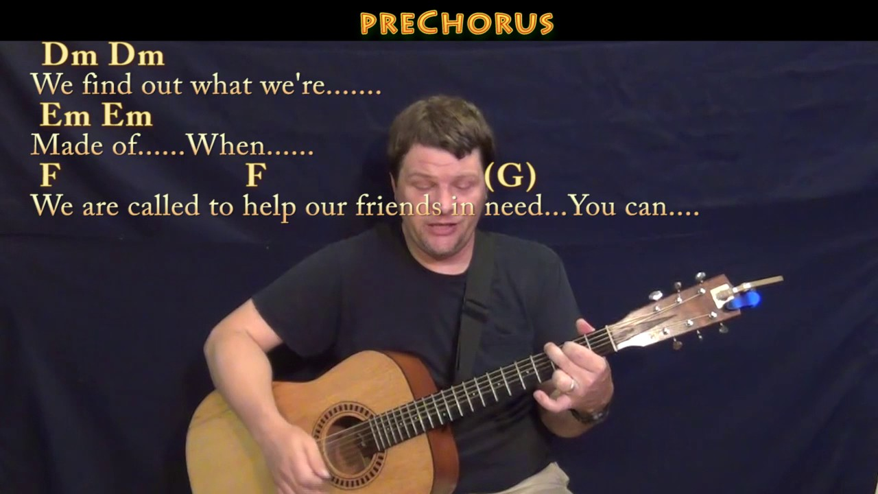Count On Me Bruno Mars Guitar Cover Lesson With Chordslyrics