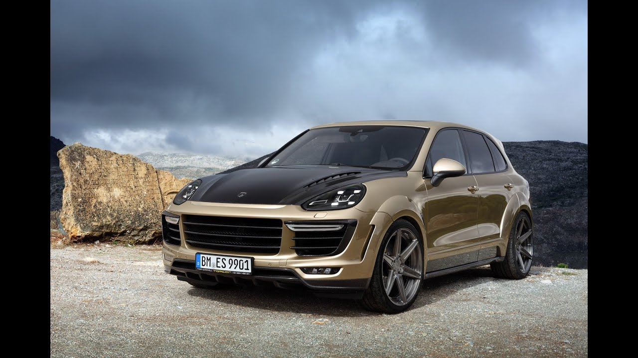 topcar porsche cayenne vantage bodykit gold edition 2016 topcar tuning youtube. Black Bedroom Furniture Sets. Home Design Ideas