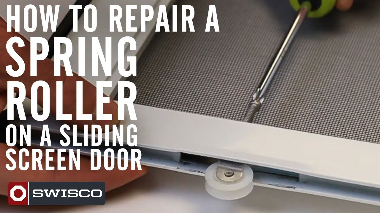 Sliding Screen Door Replacement how to repair a spring roller on a sliding screen door - youtube