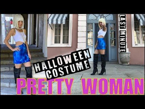 DIY: Last Minute NO-SEW Halloween Costume (Pretty Woman!!)