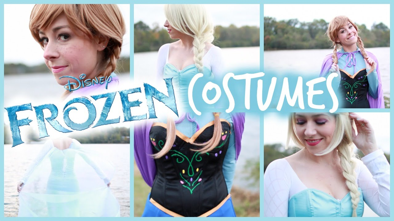 YouTube Premium  sc 1 st  YouTube & My Halloween Costume! DIY Frozen Elsa and Anna | #OOTD - YouTube