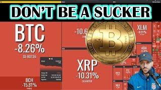 BITCOIN crash: 2018 bottom. Protect YOUR Portfolio! Bitcoin crashing today. Bitcoin drop.