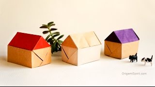 Updated Tutorial -Origami House :: Casa en Origami