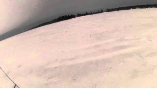 first time snowkiting with my ozone access xt 2011 8m
