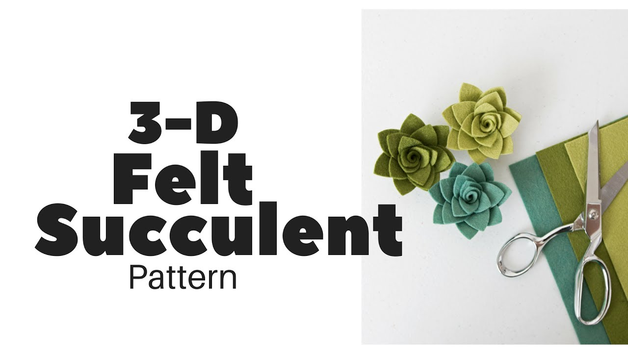 Felt Flowers Patterns Templates
