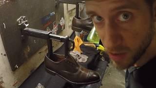 Allen Edmonds Fifth Avenue, shoe shine, ASMR