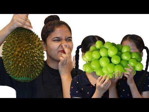 Durian Shine Muscat 두리안 샤인머스켓  Mukbang TwinRoozi 쌍둥이루지 먹방