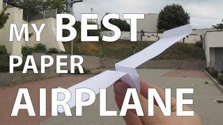 My best paper aiplane that flies far - paper airplane tutorial