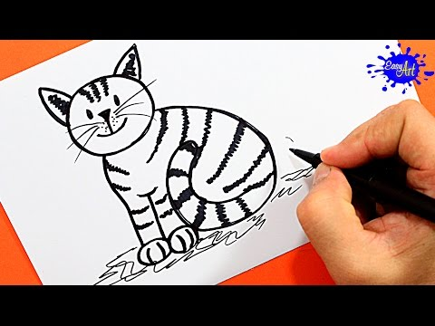 how to draw a cat easy youtube