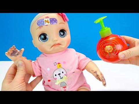 Учимся Мыть Ручки Правильно Считаем до 10 Как Мама Играла в Куклы Пупсики 108мама тв