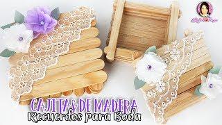 Recuerdos Para Bodas Cajitas Hechas Con Palitos De Madera Por Diy Con Marlene Campos Youtube