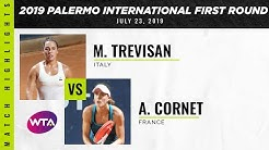 Martina Trevisan vs. Alizé Cornet | 2019 Palermo International First Round | WTA Highlights
