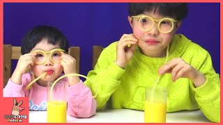 Drinking Glasses Beverages Drink Challenge Kids Toys Family Fun | MariAndKids