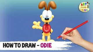 How to draw Odie | Garfield and Friends | Garfield : The Movie | Art Club for Kids