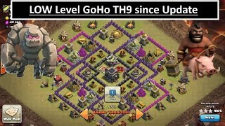 Low Hero GoHo. Dealing with C.C. Since Update. TH9 3 STAR. Clash of Clans