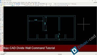 Dibac CAD Divide Wall Command Basic Tutorial For Beginner