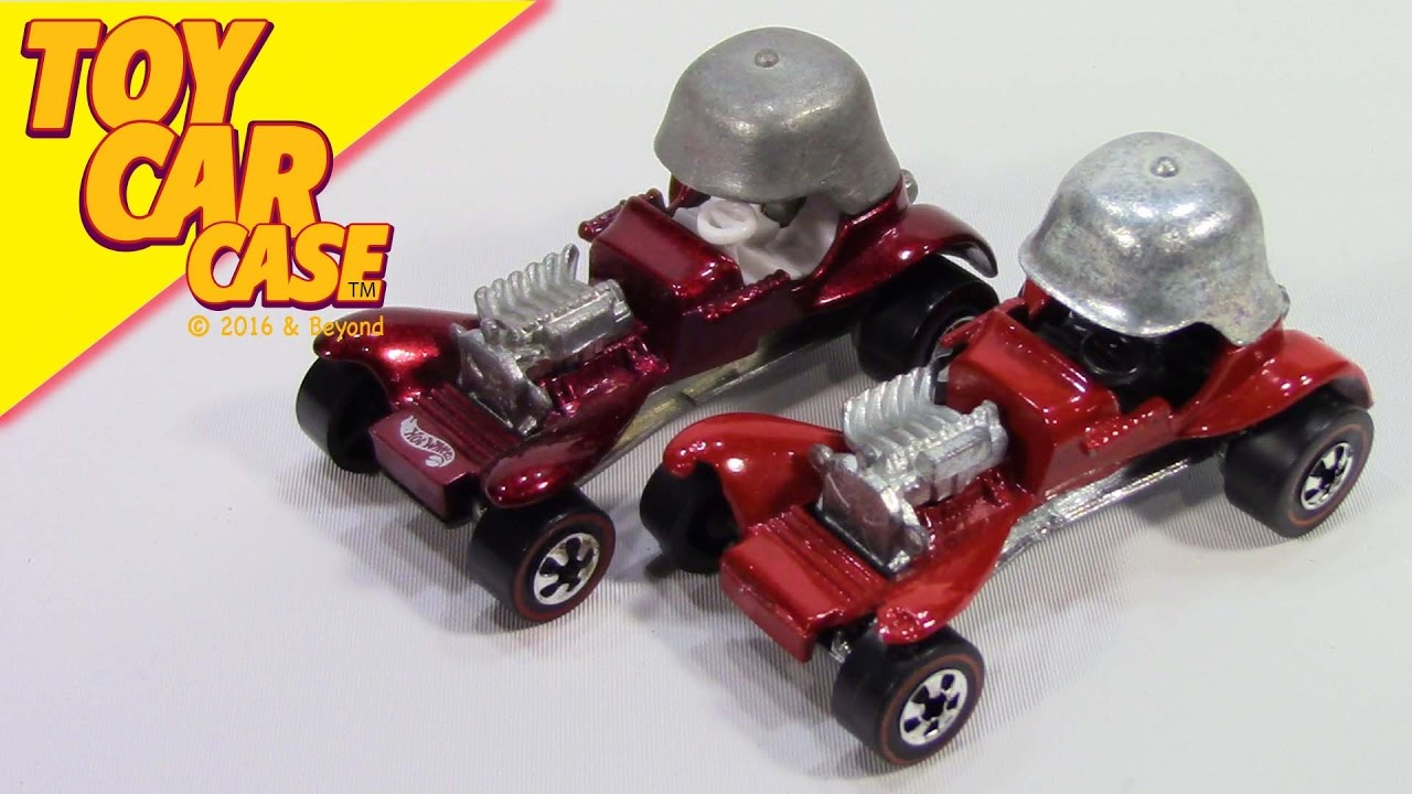 Hot Wheels 25 Anniversary Red Baron Red Line 1969 Toy Car Case - YouTube