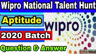Wipro Elite National level Talent Hunt commonly asked  questions | Aptitude questions | InfraMind