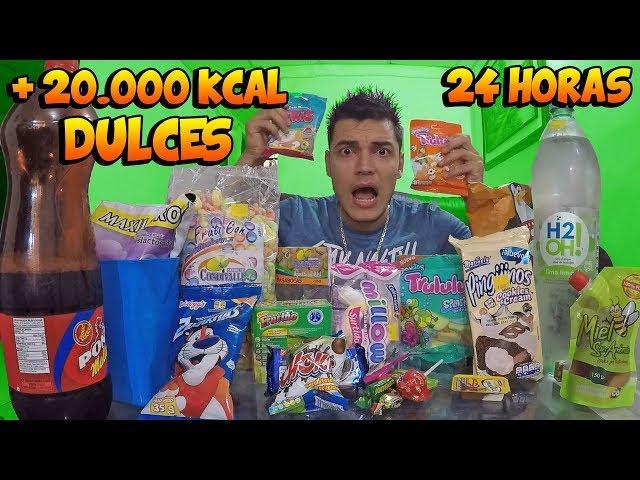24 HORAS COMIENDO SOLO DULCES *Me enfermo de azúcar* - TATTOXTREME